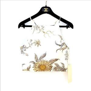 NWT Vivian Chan Sunflower Structured Crop Top